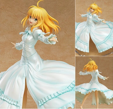 ФОТО Anime Wing Fate Stay Night Saber Last Episode Action Figure Toy PVC Collectible Model Doll Toys 21cm