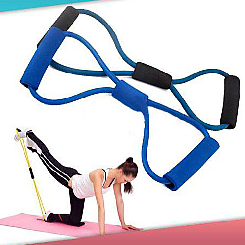 8 Word Chest Expander Fitness Equipment Resistance Band Rubber Elastic Bands Gym Workout Muscle Training Yoga Tube Rope