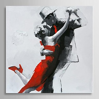 Hand Painted Modern Abstract Oil Painting People Couple Dancing Canvas Art Paintings Pictures Canvas for Living room Wall Decor