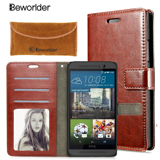 Beworlder PU Leather Case For HTC Desire 820 816 626 HTC One M9 M8 A9 Cover Case With Credit Card Holder Photo Frame Wallet