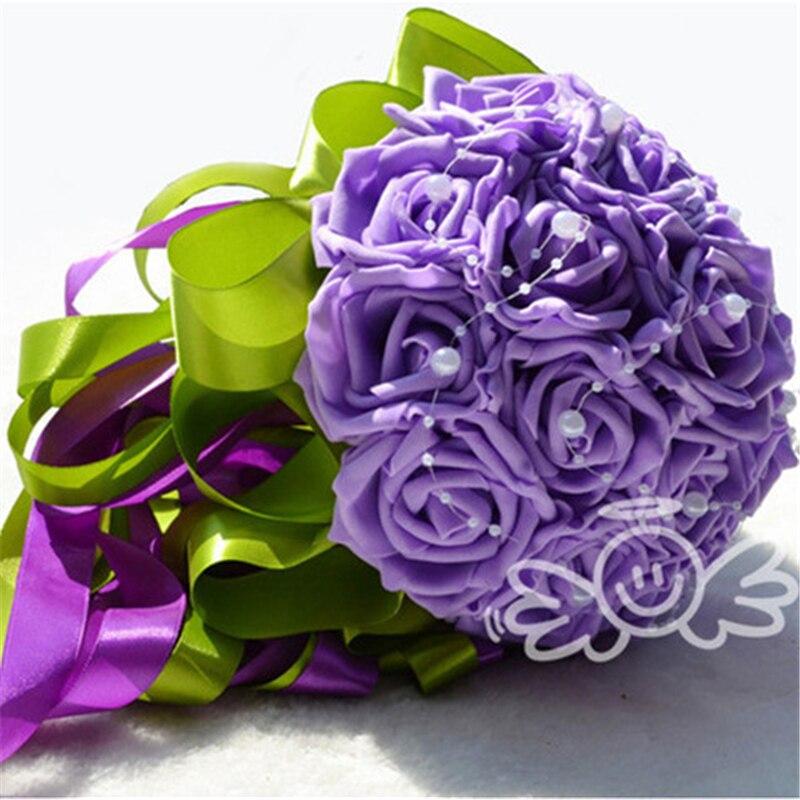 Purple Wedding Flowers Online Get Cheap Green Bouquets Aliexpress