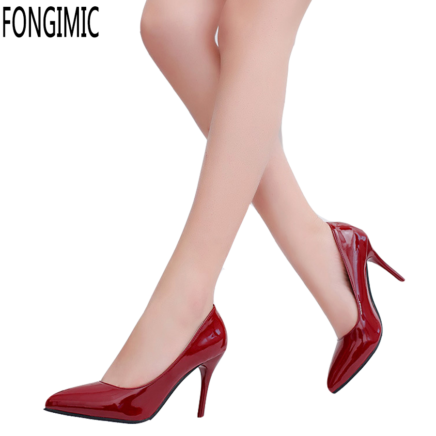 New Arrival Women Ladies Pumps Summer Spring Pointed Toe Slip-On Fashion Thin High Heel Pumps Female High Quality Brand Pumps new 2017 spring summer women shoes pointed toe high quality brand fashion womens flats ladies plus size 41 sweet flock t179