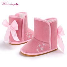 Fashion Baby Boots Winter Girls Soft Plush Booties Infant Anti Slip Snow Booties Shoes Warm Cute Snow Baby Girl Boots