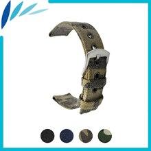 цена на Nylon Nato Watch Band 18mm 20mm 22mm 24mm for Movado Men Women Canvas Fabric Strap Wrist Loop Belt Bracelet Black Blue Green
