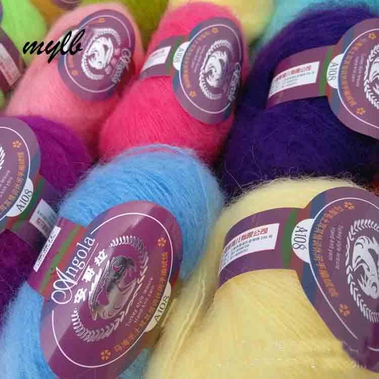 Mylb 10 шт. = 250 г ангольская мохеровая пряжа для ручного вязания крючком из шерсти трикотажная ангольская норковая шерсть пряжа мохеровая шерсть для вязания|mohair yarn|wool yarnyarn for hand knitting | АлиЭкспресс