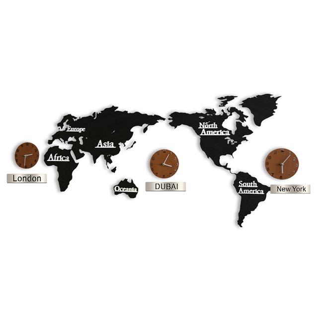 3d acrylic wall clock world map large size wall sticker clock modern 3d acrylic wall clock world map large size wall sticker clock modern european mute clock home gumiabroncs Gallery