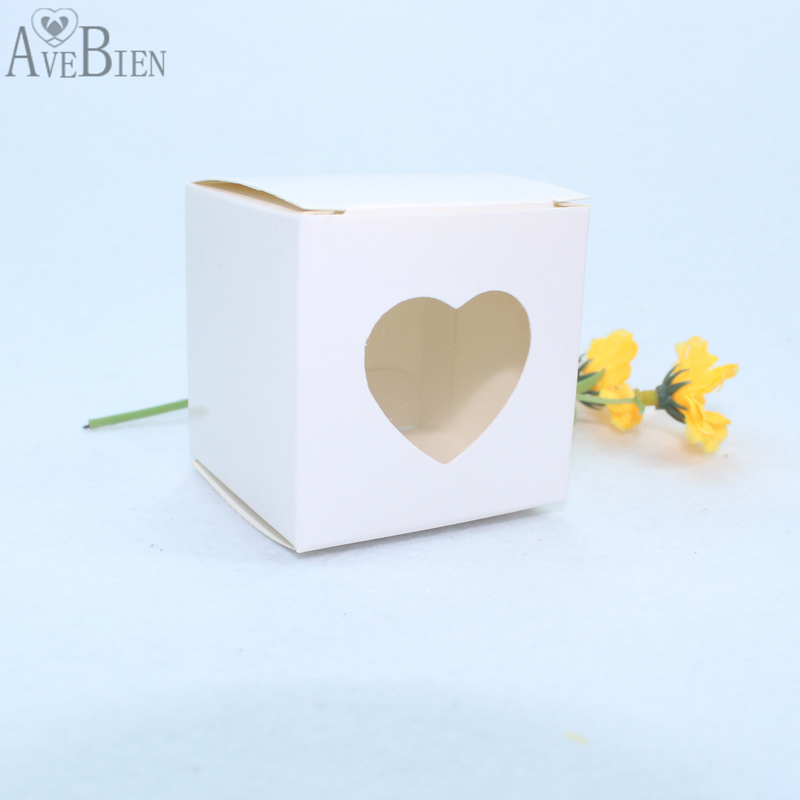 50pcs Heart Design Gift Box with Love Sweet Gift Chocolate Paper Candy Bag Birthday Decoration Marriage Beautiful Gift for Guest