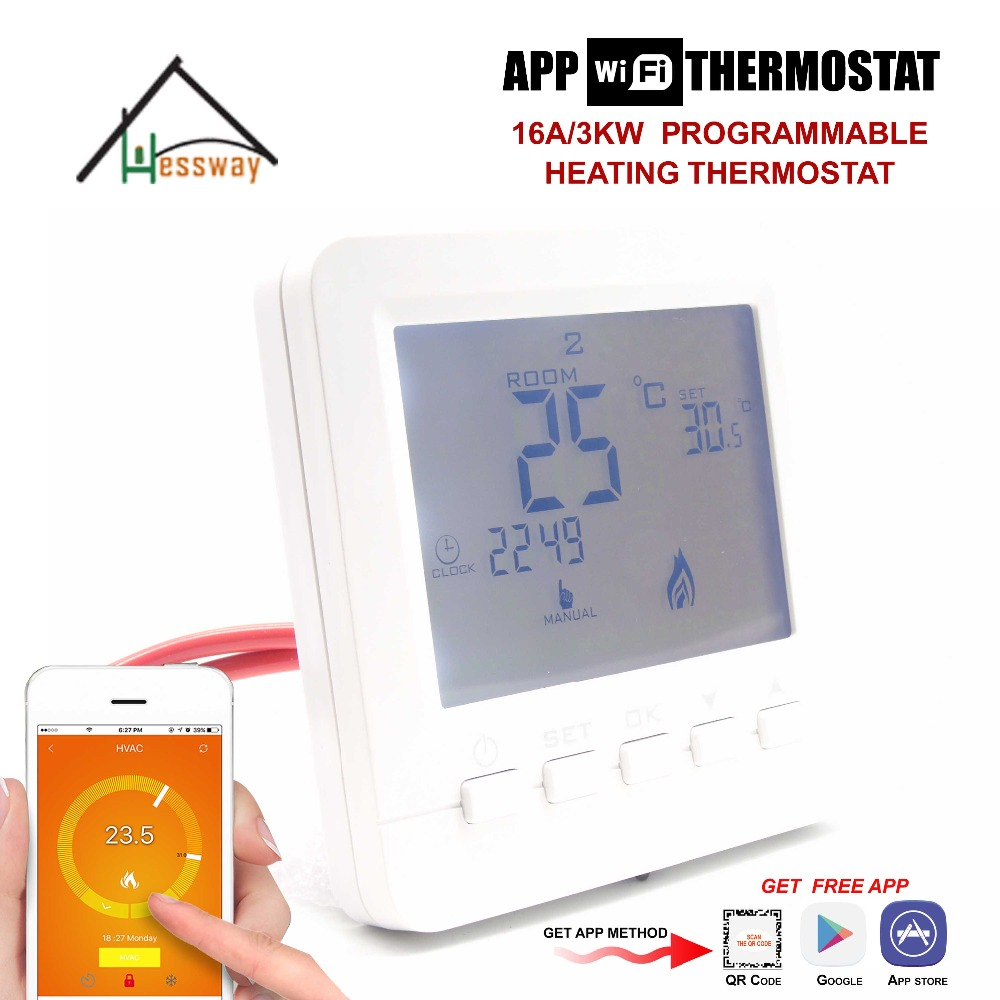 16A 3KW APP remote control wifi temperature controller thermostat for Infrared Heater Wall Panel infrared panel heater accessories digital room heating thermostat temperature controller