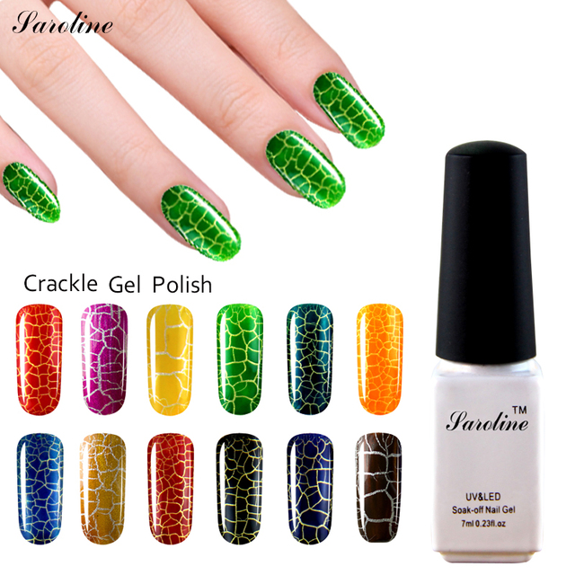 Saroline New Arrival Crackle Gel Nail Lacquer 1pcs Crack