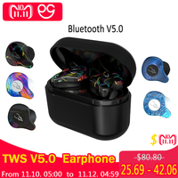 Professional Twins Mini 3D Stereo Sound V5.0 Bluetooth Earphone Invisible True Wireless Waterproof Sport Earbuds with Power bank