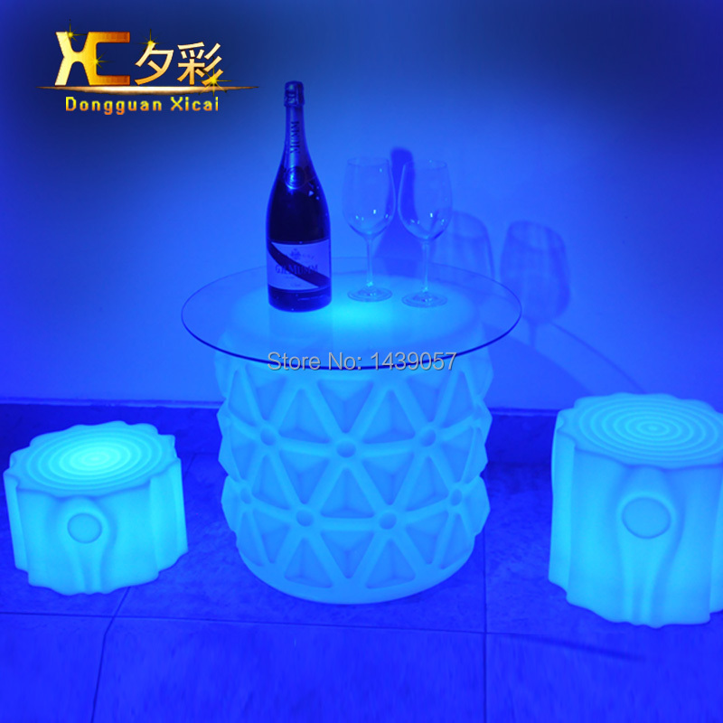 Plastic LED Coffee Table Bar Drinking End Table Living Room Decoration Furniture Color Changing Desk led luminous bar table plastic color changing coffee dining room garden drinking tables
