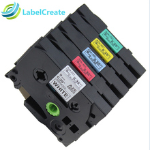 5 Pack Compatible for Brother P-touch Label Tape TZe-221 TZe-421 Laminated Tapes P touch Maker Printer