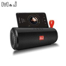 M & J אלחוטי Bluetooth נייד רמקול סטריאו סאב רמקול עמודת + TF מובנה מיקרופון בס FM USB MP3 קול בום תיבה