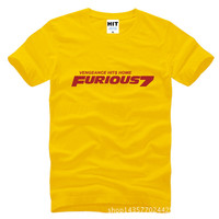 Fast And Furious 7 Printed Mens Men T Shirt Tshirt Fashion 2015 New Short Sleeve O