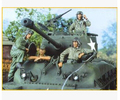Modelos em escala 1/35 WW2 americano M4 M26 incluem 4 soldados segunda guerra mundial resina modelo frete grátis