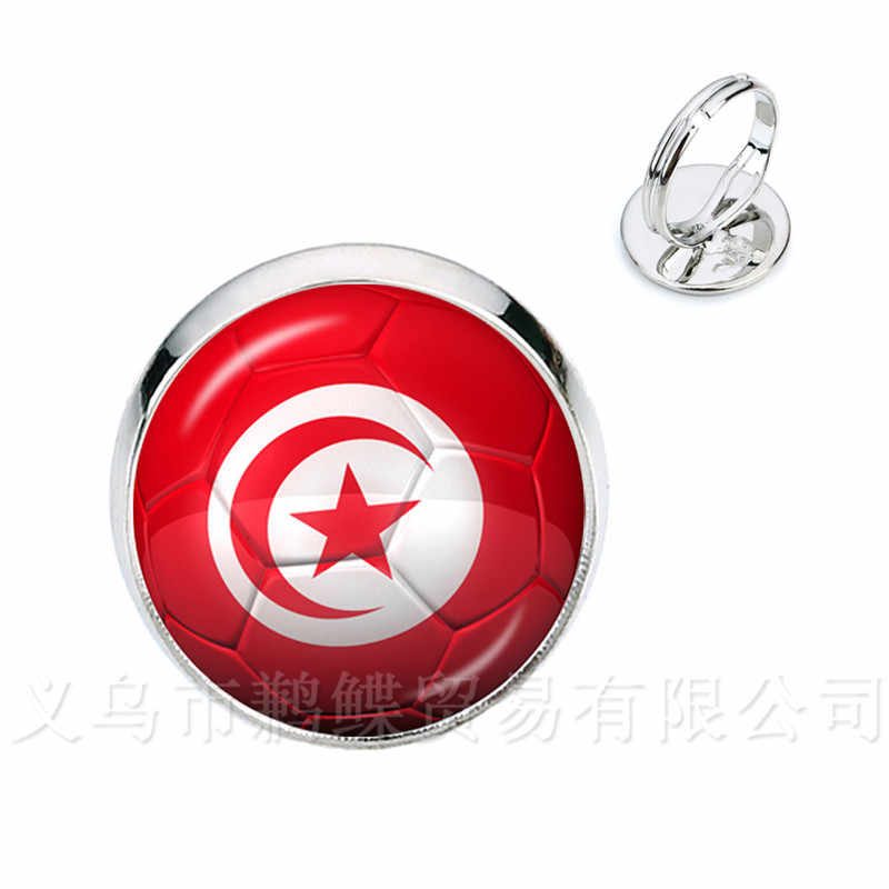 2018 novo anel de futebol copa do mundo bandeira nacional frança, inglaterra, irã, espanha, uruguai, tunísia, arábia saudita, senegal, lembranças de futebol