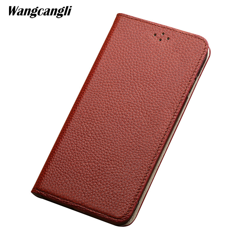 Genuine Leather waterproof phone case for LG G7 Litchi Texture flip phone case with stand function protection coverGenuine Leather waterproof phone case for LG G7 Litchi Texture flip phone case with stand function protection cover