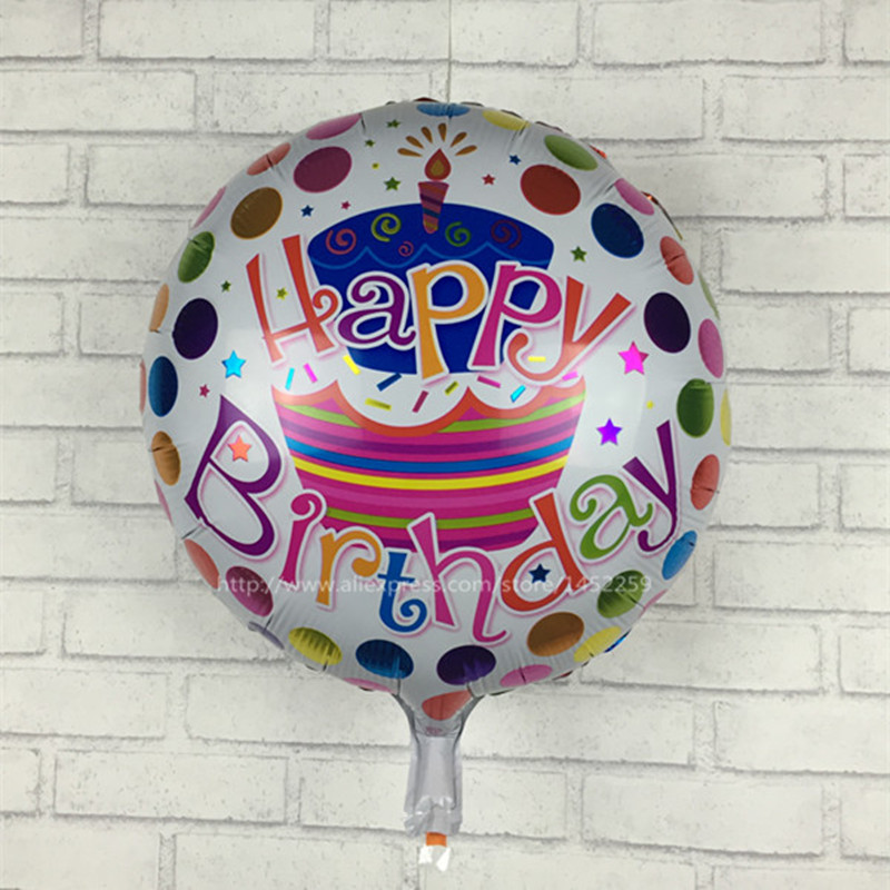XXPWJ Free shipping new hot 18 inches aluminum Cartoon Happy Birthday balloons p