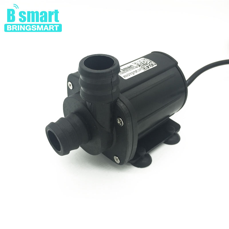 Bringsmart JT-1000A 12V DC Mini Brushless Water Pump High Flow Rate 2000L/H 5M Micro Booster Pump 24V Submersible Fountain Pump цена 2017