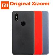 Funda Original Xiaomi Mi MIX 2S, funda de silicona líquida Original M8 MI 8 Global, cubierta trasera de fibra suave MI8 MI 8 SE
