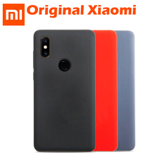 Original Xiaomi Mi MIX 2S Case M8 MI 8 Global Cover Genuine silicone liquid rubber + soft fiber MI8 MI 8 SE Back Cover