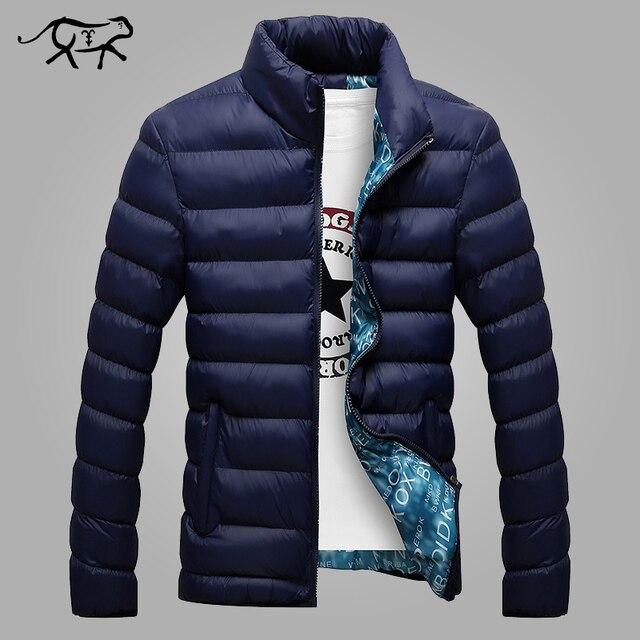 2017 Homens Jaqueta de Inverno dos homens Novos da Marca Jaquetas e Casacos Moda Casual Vestindo Quente Algodão Casaco Anorak Jaqueta Masculina Hombre