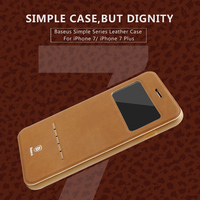 Original Baseus Terse Window Flip Leather Case For IPhone 7 7 Plus Ultra Thin Smart Sleep