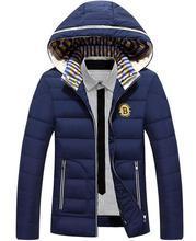 Hooded Thickening Men Winter Plush Collar Men Cotton-padded Jacket European And American Fashion Warm Cotton-padded Clothes