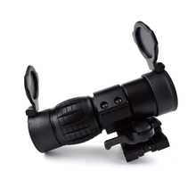 Tactical 3X Magnifier Outdoor Hunting Optics Riflescope Sights With Flip Up Cover Fit for 20mm Rifle Gun Rail Mount vector optics rogue 2 6x32 aoe hunting riflescope with 25mm mount ring sunshade flipup cap