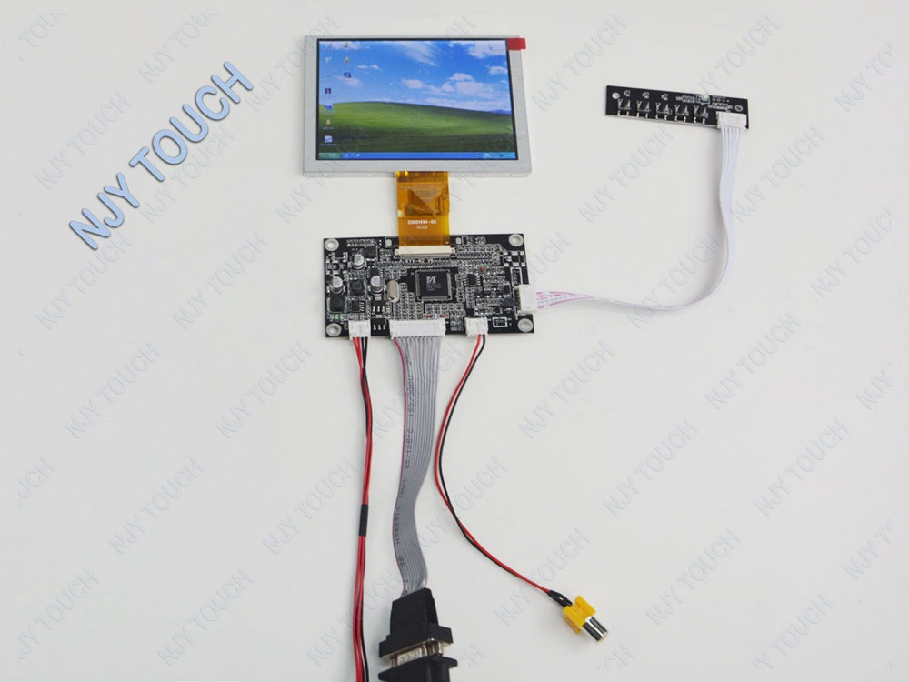 5inch TFT ZJ050NA-08C 640x480 50Pin Plus VGA AV LCD Controller Board Kit free shipping new 3 5 tft pd035vx2 640x480 lcd screen vga av lcd controller board kit for projection