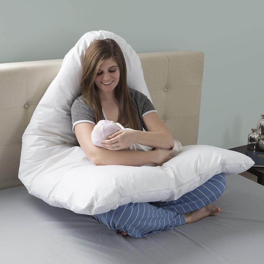 LFH 100% хлопок Беременность подушку u образную полное тело подушку Гипоаллергенная подушка крышка материнства подушка для новых матери подуш