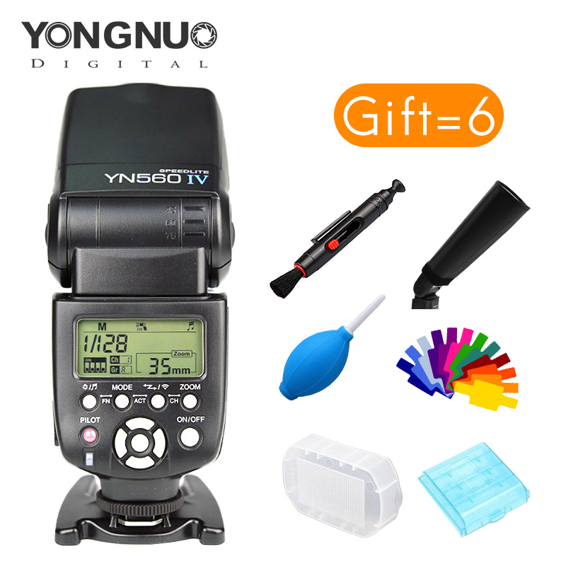 Yongnuo 2.4GHz Speedlite YN560 IV Wireless Transceiver Integrated For Canon Nikon Pentax Olympus Fujifilm Sony DSLR Camera professional aluminum dslr camera movie making video cage with 15mm rod system for canon nikon sony pentax olympus panasonic