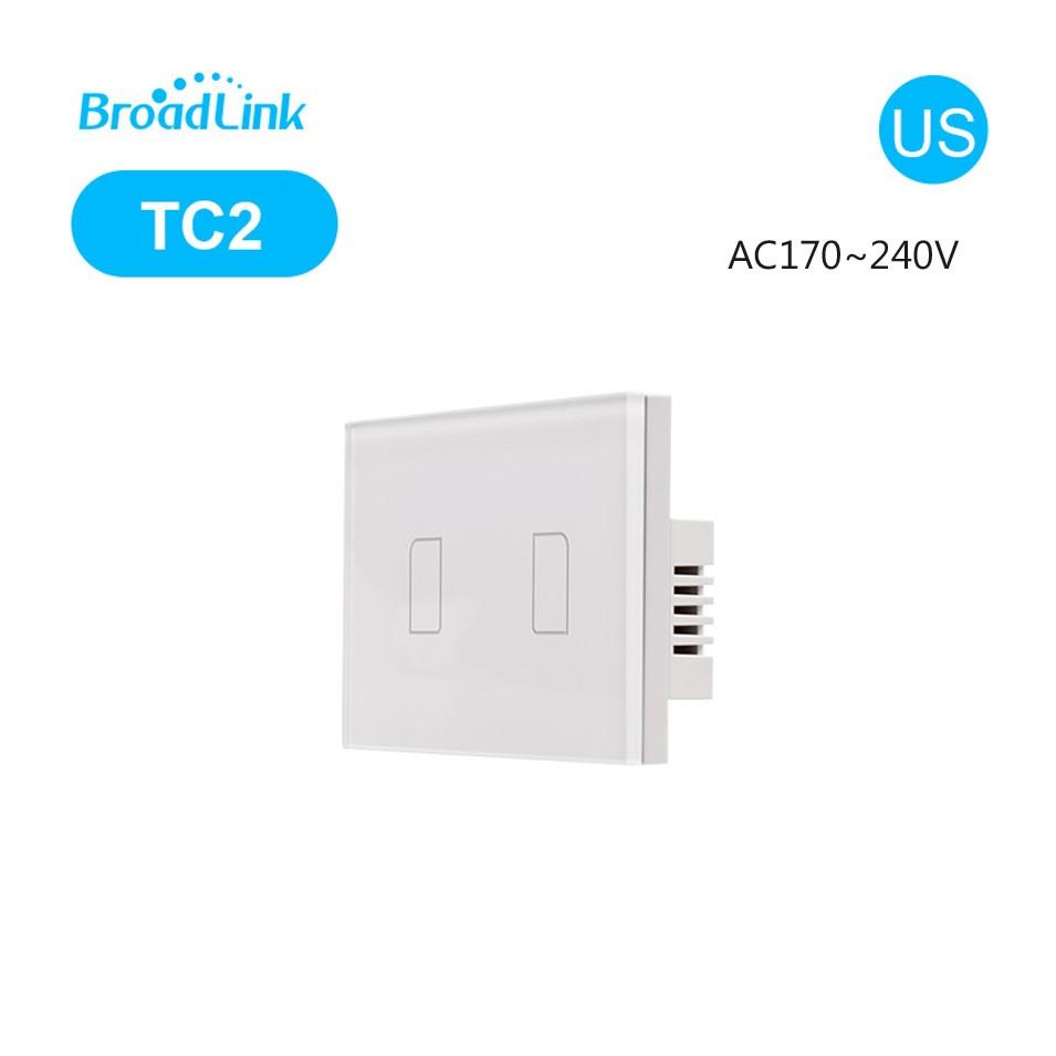 Broadlink TC2 US 표준 1 / 2 / 3 갱, Broadlink RM PRO, Smart Home Domotica를 통해 모바일 원격 조명 램프 벽 와이파이 스위치
