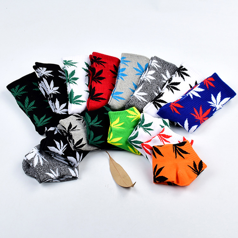 Leaf Maple Leaf Casual Long Weed Crew Sock Autumn Winter Fashion 1Pair Comfortable High Quality Cotton Socks