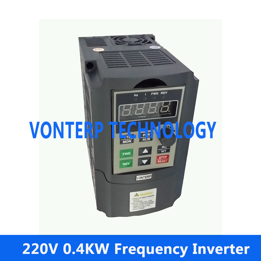 цена на mini frequency inverter 220v 0.4KW 2.5A single phase input and 220v 3 phase output