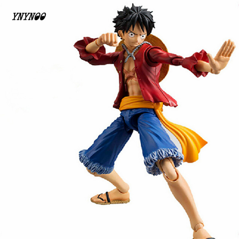 YNYNOO Anime Action Figure One Piece Luffy Monkey D 13 Joint Movable Series Collectible PVC Figure Toy Children's Toy 18cm 5 5 inch cartoon character pvc action figure movable joint toy with chest light home office decoration 4pcs