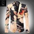2017 novo produto fábrica drect venda impressão de veludo blazer terno do casamento de luxo dos homens famosos de alta qualidade jacket tamanho M-3XL