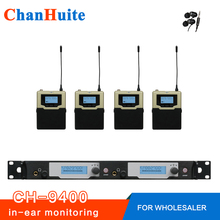 Top Quality! Wireless in ear monitor system professional IN-EAR MONITORS COMPLETE FOR 4 USERS, IEM 2 transmitter 4 receivers