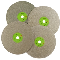 8 Inch Grit 60 3000 Diamond Coated Flat Lap Disk Grinding Disc Abrasive Wheels ILOVETOOL