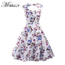 MISSJOY Vestidos Women Dress Small fresh Summer Sexy Backless Hollow Out Print Elegant  Party Skater Dress vestiti donna elbise christmas print skater party dress