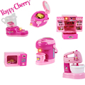 Happy Cherry Child Baby Play Learn Toys Household  Mini Cook Appliances with Electric Functions