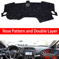 Rose Pattern For Nissan CIMA 2016 Dashboard Cover Car Stickers Car Decoration Car Accessories Interior Car Decals