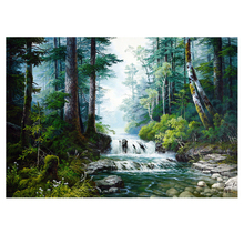 Natural landscape Diamond Painting waterfall scenery DIY embroidery full round painting