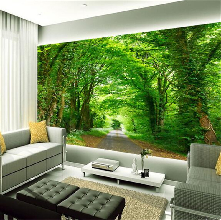 3d Photo Wall Painting Green Tree Nature Landscape Big