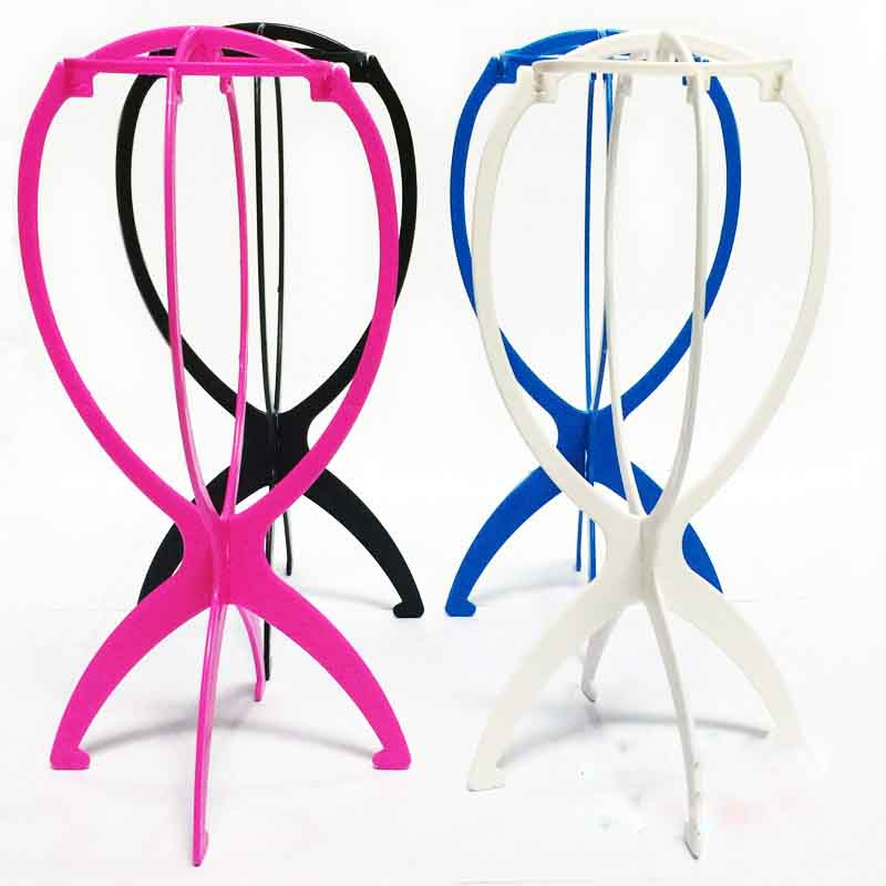 1PC Ajustable Wig Stands Plastic Wig Holder Stand Portable Folding For Styling Drying Display Portable Folding Wig Stand