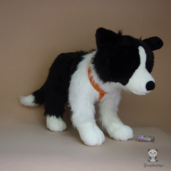 Big Plush Toy Gift Stuffed Animal Kids Toys Doll Simulation Border Collie Pillow babies p 695i