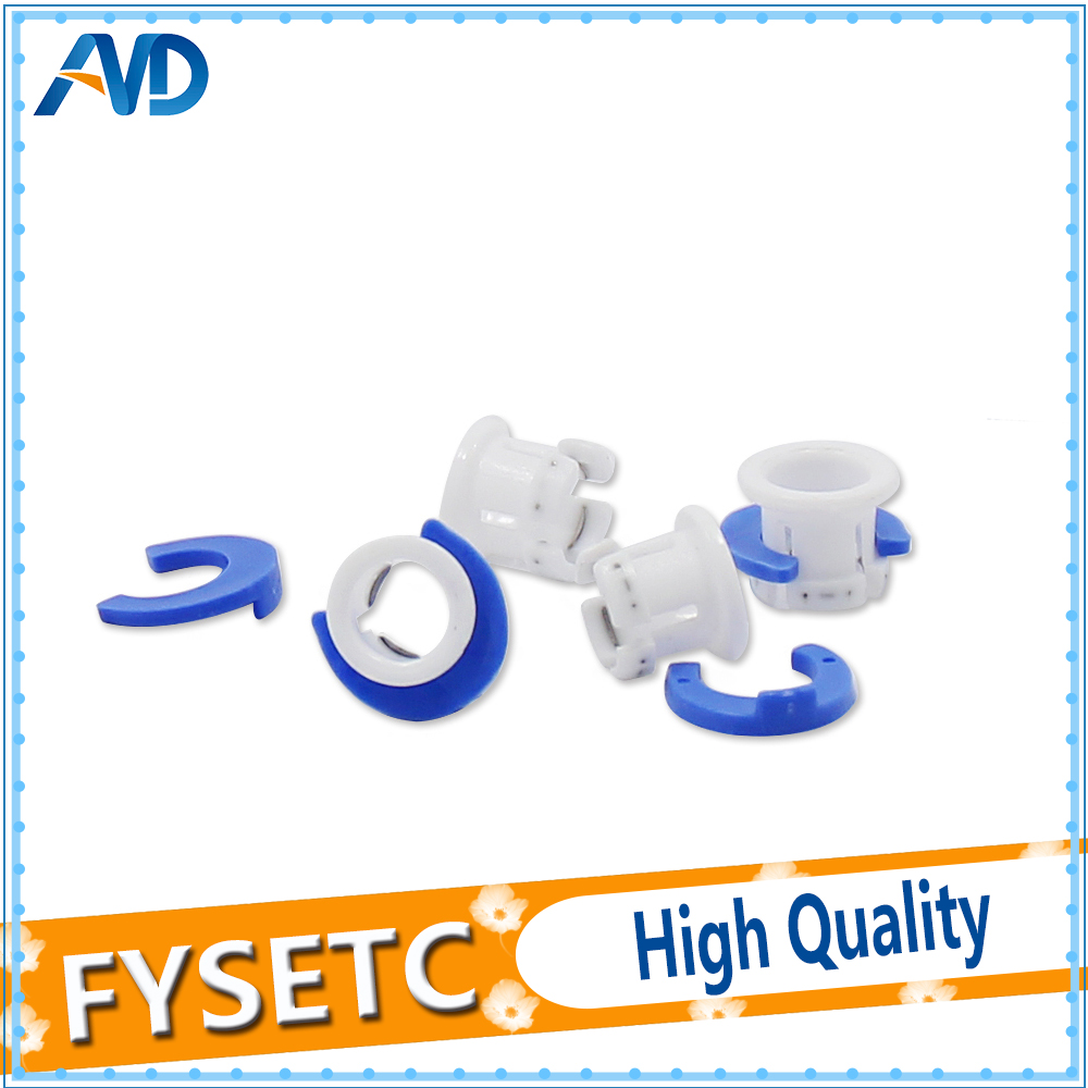 10set White Bowden Tube Clamp Blue Pipe Horse Clip Fixed 6mm For Ultimaker 3D Printers Parts Shoe Coupling Collet Part Accessor