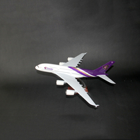 HaoKu children's Toys Collection Hobbies Resin aircraft model Thailand Airlines A380 simulation Airplanes Decoration kids toy