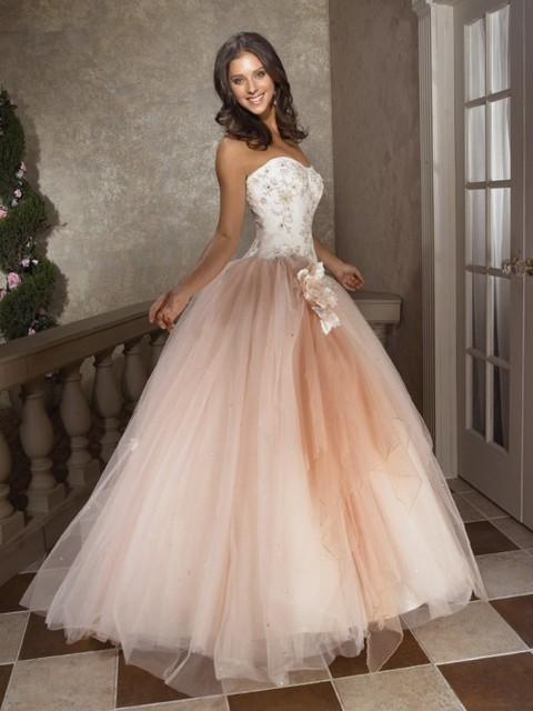 Moderna con cordones más tamaño chispeante sin tirantes piso longitud tul vestidos vestidos de Quinceanera vestidos vestidos vestidos de bola