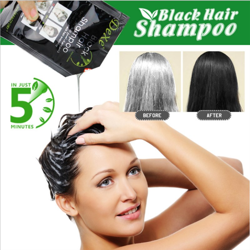 US $0.96 40% OFF|Dexe Black Hair Shampoo temporary hair dye Black Hair  Color Product Chinese Herbal Removal Gray-in Hair Color from Beauty &  Health on ...